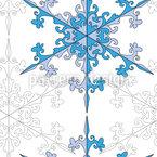 Schneeflocken Schönheit Rapportiertes Design