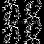 Cinderella Black Seamless Vector Pattern Design