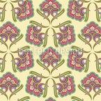 Historische Blumen Nahtloses Muster