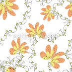 Blooming Period Seamless Vector Pattern Design