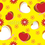 Butterflies Love Flowers Seamless Vector Pattern Design
