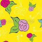 Eine Rose Ist Eine Rose Nahtloses Vektormuster
