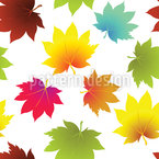 Leaves In Autumn Seamless Vector Pattern Design