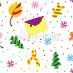 Christmas Mail Seamless Vector Pattern Design