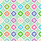Arranged Flowers Seamless Vector Pattern Design