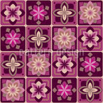 Lotus Azulejos Estampado Vectorial Sin Costura