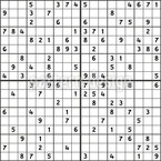 Sudoku Seamless Vector Pattern Design