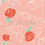 Nostalgic Rose Garden Seamless Vector Pattern Design