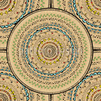 Ornate Sombreros Repeating Pattern