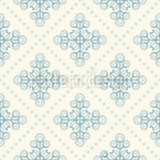 Dutch Floral Tiles Seamless Vector Pattern Design