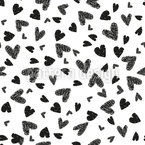 Troubled Hearts Seamless Vector Pattern Design