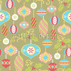 Ornamental Christmas Seamless Vector Pattern Design