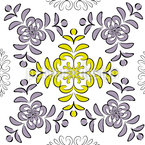 Floral Geometry Seamless Vector Pattern Design