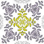 Florale Geometrie Nahtloses Vektormuster