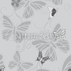 Monochrome Butterflies Seamless Vector Pattern Design