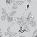 Schmetterlinge Monochrom Nahtloses Vektormuster