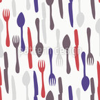 Kitchen Cutlery Seamless Vector Pattern Design