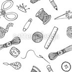 Sewing Fun Seamless Vector Pattern Design