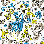 Modern Baroque Seamless Vector Pattern Design