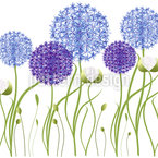 Allium Garden Seamless Vector Pattern Design