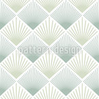 Art Deco Fan Seamless Vector Pattern Design