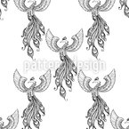 Rising Phoenix Vector Pattern