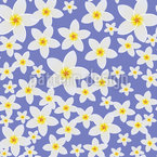 Frangipani Bloom Seamless Vector Pattern Design
