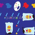 O Pintor Louco Design de padrão vetorial sem costura