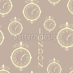 London Timezone Seamless Vector Pattern