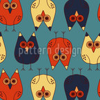 Night Owls Repeating Pattern