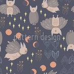 Kreaturen Der Nacht Nahtloses Vektormuster