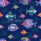 Fish Parade Seamless Vector Pattern Design