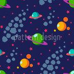 Sonnensystem Nahtloses Vektormuster