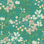 Bladder Campion And Clematis Vector Pattern