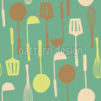 Kitchen Utensils Seamless Vector Pattern Design