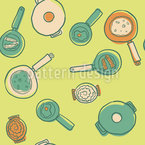 Pots And Pans Seamless Vector Pattern Design