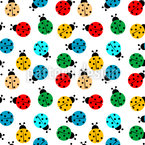 Ladybug Meeting Seamless Vector Pattern Design