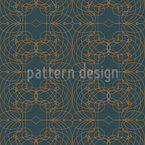 Baroque Lattice Seamless Vector Pattern Design