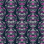 Stripe Damask Repeating Pattern