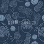 Knitting Seamless Vector Pattern Design