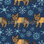 The Cool Cats Seamless Vector Pattern Design
