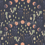 Moon Phases Seamless Vector Pattern Design