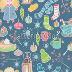 Winter Time Seamless Vector Pattern Design