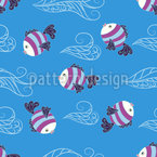 Baby Fische Vektor Ornament