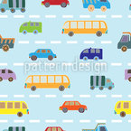 Traffic Seamless Vector Pattern Design