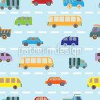 Verkehr Nahtloses Vektormuster