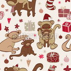 Have A Monkey Christmas Repeating Pattern