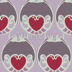 Sugary Hearts Seamless Vector Pattern Design