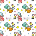 Cute Angels Seamless Pattern