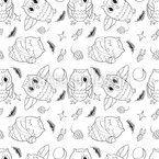 The Cute Owls Seamless Vector Pattern Design